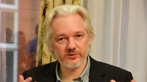 WikiLeaks founder Julian Assange in the Ecuadorian embassy in London in 2014.