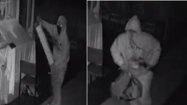 CCTV footage of the alleged thieves.