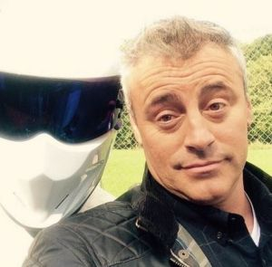 Matt LeBlanc with the Stig.