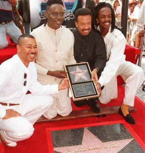Ralph Johnson, from left,  Phillip Bailey, Maurice White and Verdine White, of Earth, Wind & Fire in 1995.