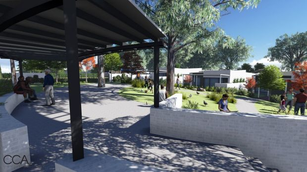 The project has been designed so residents can look out at the landscape and meet up with extended family in a natural ...