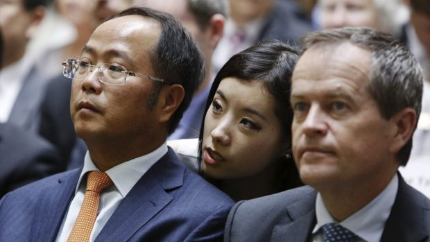 Huang Xiangmo with Opposition Leader Bill Shorten in 2013.