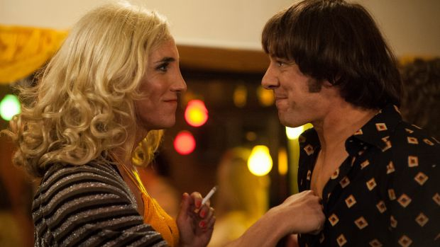 Samuel Johnson, right, as Molly Meldrum and Ben Gerrard as transgender friend Caroline Jenkins in <i>Molly</i>.