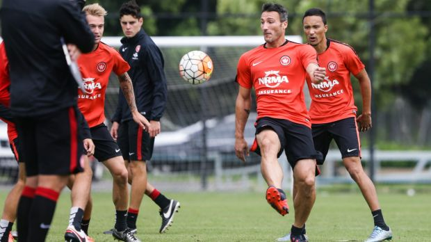 Piovaccari trains with the Wanderers on Friday.