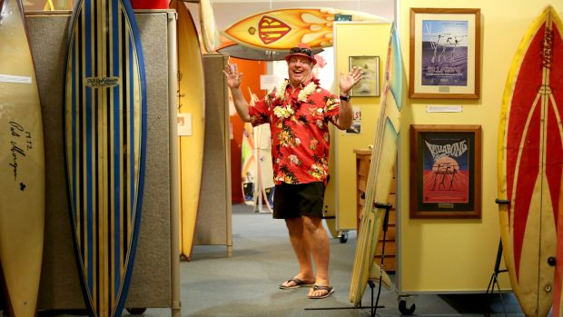 Gold Coast World Surfing Reserves chairman Andrew McKinnon at the surf museum.