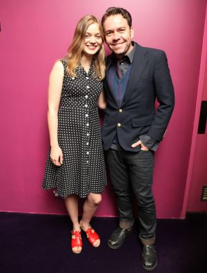 Bella Heathcote with Brendan Cowell, her co-star in <i>Beneath Hill 60</i>.