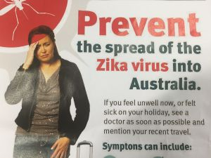 A promotion campaign to help restrict spread of Zika virus in Australia.