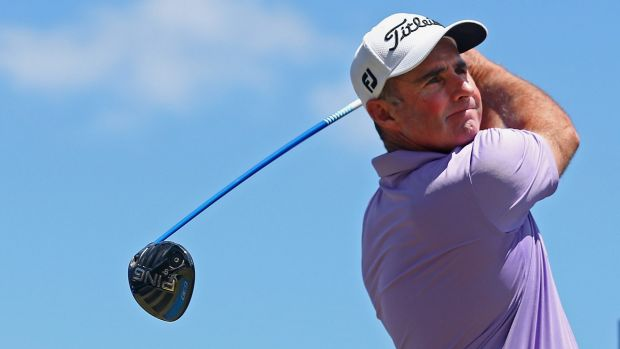 Canberra's Matthew Millar is in contention for the title after a strong third round at the Victorian Open on Saturday.