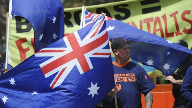 Reclaim Australia national rally on Parliament House Lawns was the first in a series of globally coordinated Anti-Islam ...