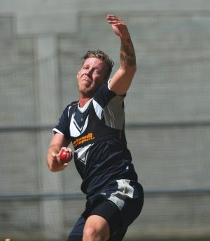 Picking up the pace: Jake Reed doing what he loves best ... playing cricket.