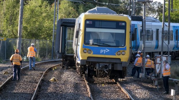 The train that derailed near Rushall station on Saturday has been impounded.