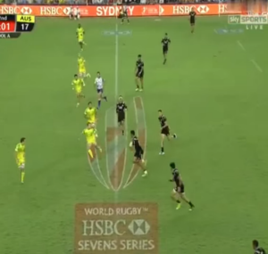 Seven or eight? Did New Zealand have eight players on the field during try after the siren?