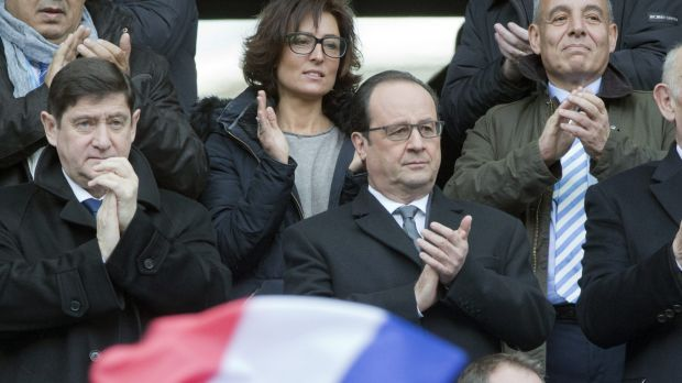 Premier entertainment: French President Francois Hollande attended the match - the first at the venue since the Paris ...