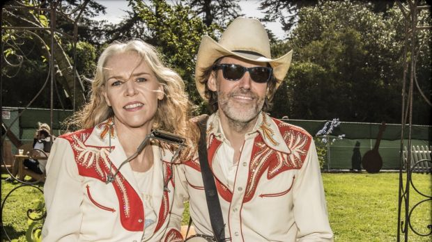 Suited and booted: Gillian Welch and David Rawlings turned their Palais concert into a cowboy wedding.