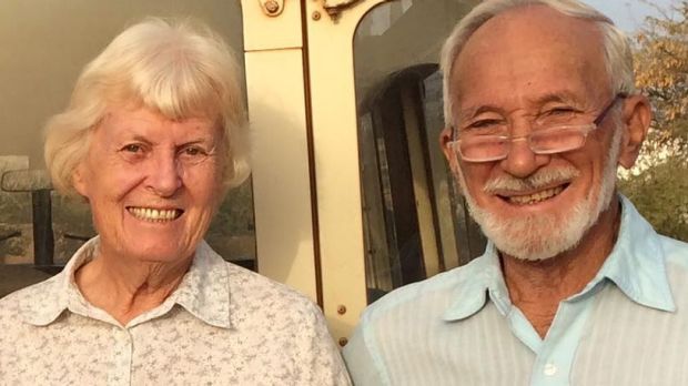 Jocelyn Elliott has been freed but husband Ken is still in the hands of kidnappers.