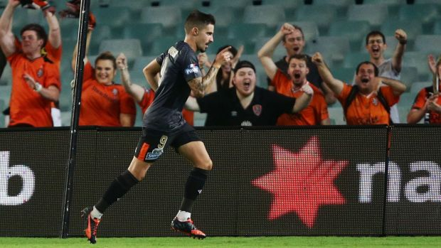 Striking form: Brisbane Roar striker Jamie Maclaren netted his 10th goal of the season in Saturday's victory against the ...