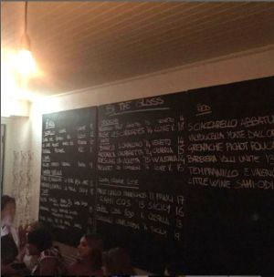 The wine list at 10 William Street.