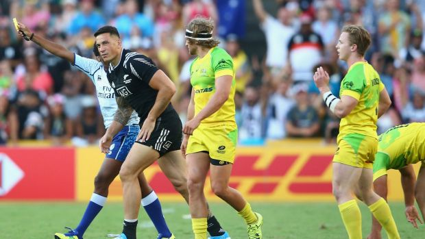 Sonny Bill Williams is sin binned in the first half.