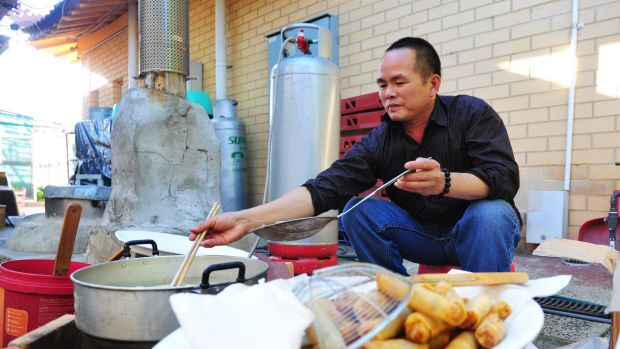Cooking for the celebrations is Ngoc Anh Tran.