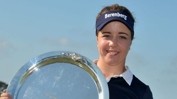 Maiden win: England's Georgia Hall clinched her first victory since turning professional.