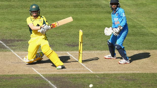 Clean sweep: Alex Blackwell of Australia during the match at Blundstone Arena.
