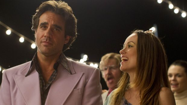 Bobby Cannavale plays Richie Finestra, and Olivia Wilde plays Devon, his wife, in Vinyl.