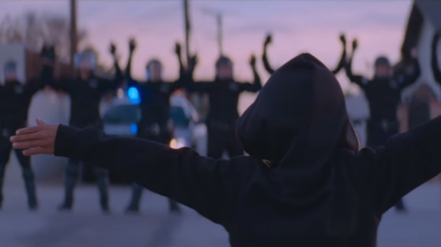 Police brutality is a major theme in the song.