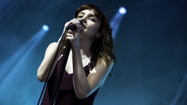 Lauren Mayberry from Chvrches at Laneway Festival in Sydney.