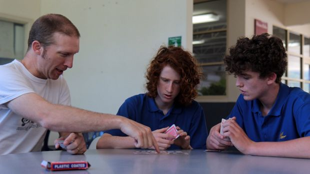 Upwey High students Aviv Dolan, centre, and Rory-Clay Edwards have improved their memories and academic performance with ...