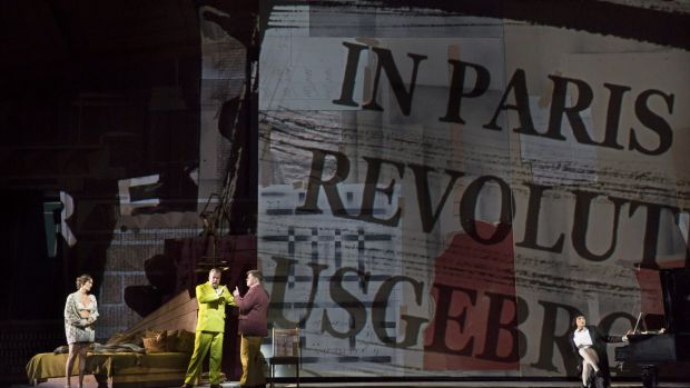 Kentridge created a five-storey proscenium in the cavernous Metropolitan Opera House  for Lulu.