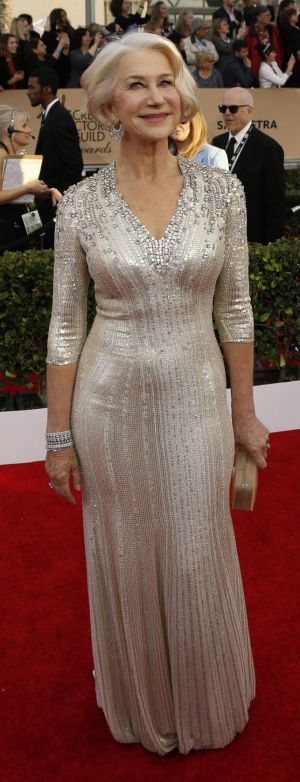 Helen Mirren knows how to turn it on for the red carpet.