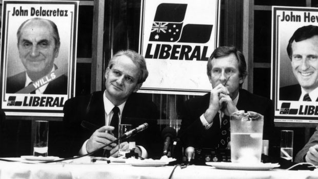 Mr Ruddock with Liberal leader John Hewson in 1992.