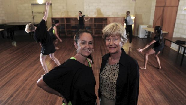 Australian Talented Youth Project artistic adviser Liz Lea, left, and project director Jolanta Gallagher at a dance class.