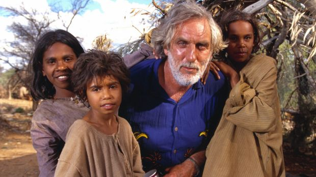 Director Phillip Noyce with, from left, Everlyn Sampi, Tianna Sansbury and Laura Monaghan on the set of the 2002 film ...