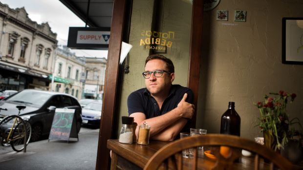 In lieu of an office on site, Marcus Westbury has been working from a borrowed desk and local cafes around Collingwood.