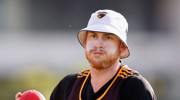 Sidelined: Jarryd Roughead wants to be back for the pointy end of the season.
