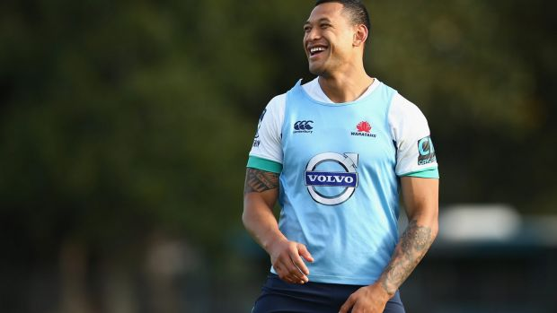 Back in business: But Israel Folau won't be thrown into the deep end.