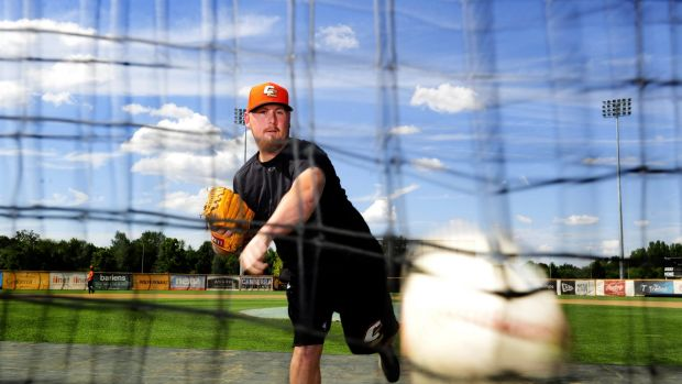 Fired up: Canberra Cavalry player Steven Kent will play in the World Baseball Classic qualifying tournament.
