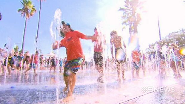 The Barnett government splashed out almost $3 million to finish the water park at Elizabeth Quay.