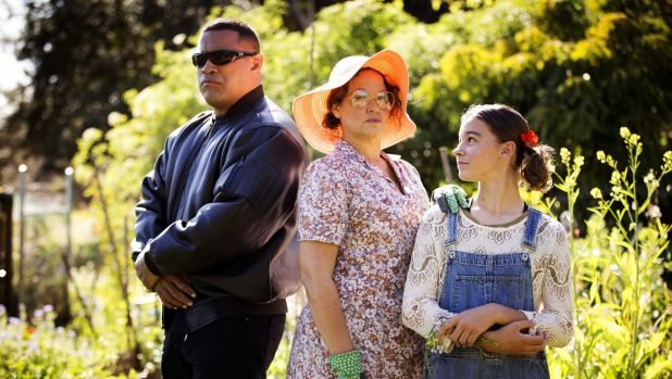 Leah Purcell (centre) in  Black Comedy.
