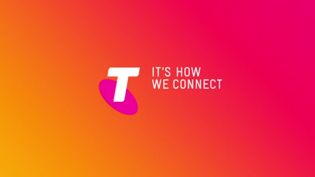 Telstra is deep in the red today.