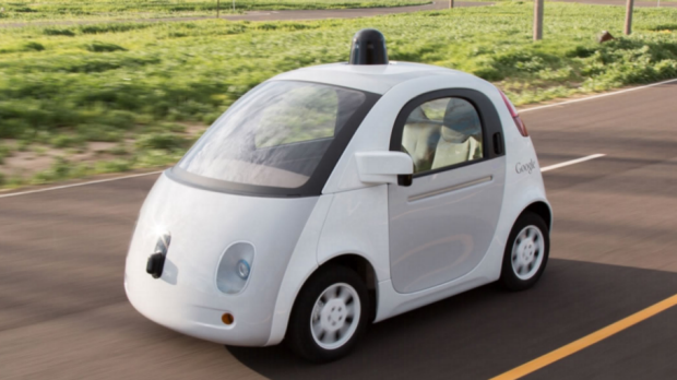 Autonomous cars like this Google design could radically alter the look of suburban shopping malls.
