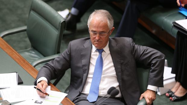 Prime Minister Malcolm Turnbull during question time on Tuesday.