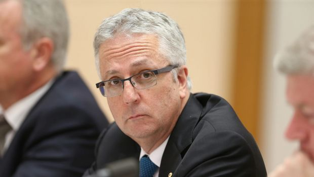 ABC managing director Mark Scott during an estimates hearing at Parliament House in Canberra on Tuesday.