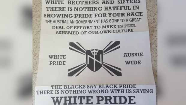 The letter distributed in Perth suburbs this week.