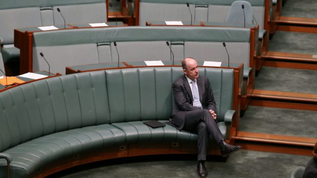 Stuart Robert in Parliament House on Wednesday.