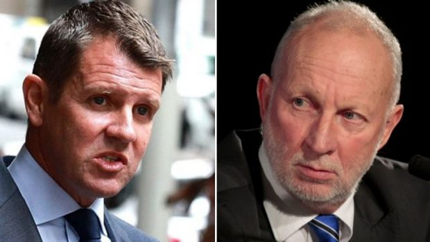 Mixed stats: NSW Premier Mike Baird, left, and the director of the NSW Bureau of Crime Statistics and Research Don ...