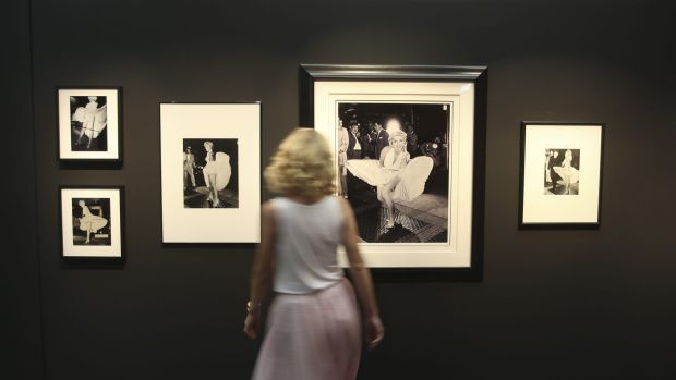 Preview of Marilyn Monroe exhibition at Murray Art Museum Albury.