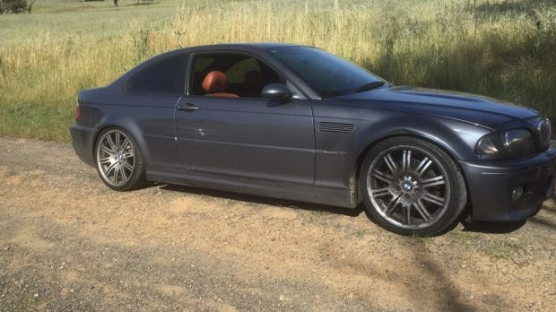 The BMW that allegedly hit speeds of 240km/h on the Hume Highway.
