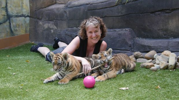 Dr Tamara Keeley with Adira and Akasha.